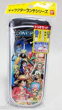One Piece Chopsticks Spoon Folk Tableware Set Bandai JAPAN ANIME MANGA JUMP