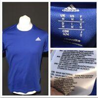 Adidas Climalite Running Men's T Shirt Blue Medium S/S