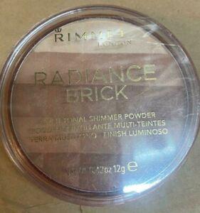 RIMMEL RADIANCE BRICK MULTI-TONAL SHIMMER POWDER - 001 LIGHT 12G
