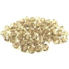 Czech Crystal Glass Faceted Bicone Beads 3mm Pale Taupe 100+ Pcs DIY Jewellery
