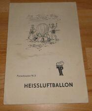 DDR  Pionierbauplan Nr 3  +  Heissluftballon    + Bastelbogen + + rar