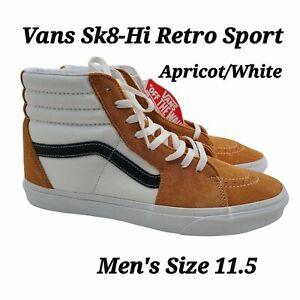 Vans Sk8 Hi Retro Sport Apricot True White Sneakers Shoes Men's Size 11.5 NEW