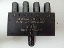 MERRIMAC No. PDML-40A-50 / 74769S2 4-WAY SPLITTER 4K48-007CHAS2 MFR-12457 *NEW*