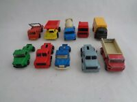 Toy Lot Vintage Majorette Corgi Truck Scania Leyland Volvo -set of 10