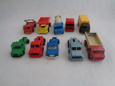 Toy Lot Vintage Majorette Corgi Truck Scania Leyland Volvo -set of 10
