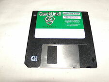 Quick Link II: Windows & DOS (1993) 3.5 floppy disk