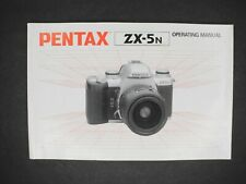 Pentax Zx-5N Camera Operating Manual / Instruction Book / Guide