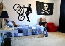 Wall Decal Sticker Bedroom bike bmw bicycle riding boys nursery sport bo2807