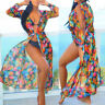 Women's Chiffon Crochet Bikini Cover Up Swimwear Bathing Suit Beach Sashes Dress