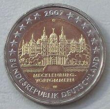 2 Euro Deutschland G 2007 Schweriner Schloss MVP unz