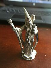Collectible Gallo Pewter Wizard Figurine with Staff-Vintage 1982-Signed (Sly)