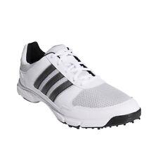 adidas Tech Response Golf Shoes - White/Metallic/Black
