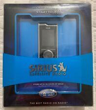 Sirius Stiletto 100 Silver/Black Digital Media Player With Satellite & FM Radio