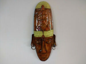 Wall Hanging Mask African Tribal Style Metal Mask Wall Room Decoration