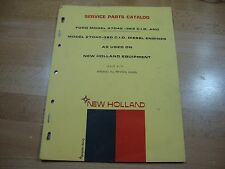 New Holland Ford 2704E 363 ci 2704C 380 ci diesel engine parts manual catalog