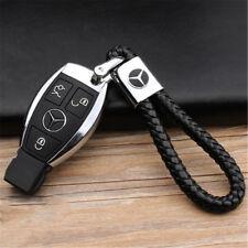 Luxus Schlüsselanhänger Lederband aus Leder Metall Logo Emblem für Mercedes-Benz