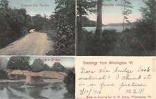 Wilmington Vermont Multiview Bridge Lake Scenic Antique Postcard K16959