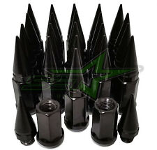 32 BLACK SPIKE LUG NUTS 9/16-18 | RAM 2500 3500 FORD F250 F350 1987-1999 USA