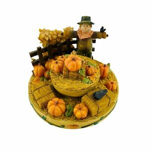 Candle Capper Scarecrow & Pumpkins, Our America Stay On Tops, Fall Autumn Decor