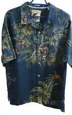 RARE pure Linen Tommy bahama 25th Anniversary Hawaiian Shirt Size M/M