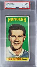 "1964-65 Topps ""Tall Boy"" Hockey # 87, Phil Goyette. PSA Graded: 8.5"