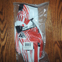 Adidas Zero College Football Power Red and White Gloves New Mens Size 3XL
