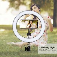"""10"""" LED Ring Light Lighting Kit For Makeup Dimmable Youtobe Studio Phone Selfie"""