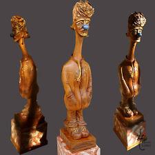 "Sculpture Bois Ronde Bosse ""FiguiouMéo"" Clown Marin Capitaine"
