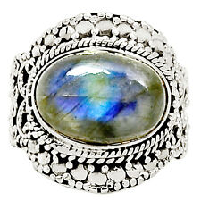 Labradorite 925 Sterling Silver Ring Jewelry s.7 9007R