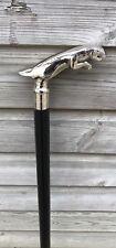 Classic Style Wooden Cane / Walking Stick Jaguar Handle Black Wood Colour
