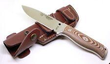Cudeman MT-5 120-X Böhler N695 Micarta braun Gürtelscheide Messer Jagdmesser