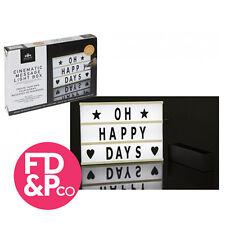Cinematografico accendere di personalizzare il testo di dimensioni A4 Lettera Scatola Message Board Decor
