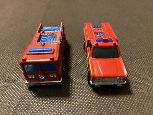 HOT WHEELS  * EMERGENCY SQUAD #7650 & FIRE EATER #9640