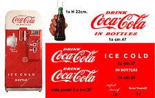 SET STICKER  COCA-COLA ice cold-VENDING MACHINE-VIEUX DISTRIBUTEUR AUTOMATIQUE