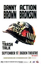 "DANNY BROWN / ACTION BRONSON ""2 HIGH 2 DIE"" 2013 DENVER CONCERT TOUR POSTER- Rap"