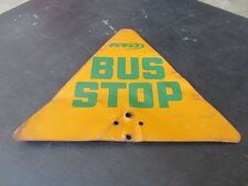 Vintage RTD Bus Stop Sign Rapid Transit District Double Sided Los Angeles LA Old
