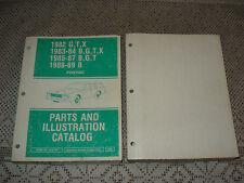 1982-1989 Pontiac B G T X Parts Book Numbers Catalog Bonneville Grand Prix