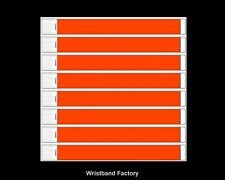 100 x Tyvek Neon Orange Party Function Event Wristbands