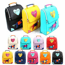 New Fashion Women Faux Leather Backpack Lady Shoulder Bag School Handbag Bookbag