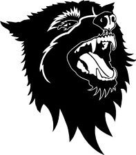 Tribal Wolf Car van window Bike Stickers Decals SBT4