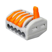 10pc Reusable Electric Spring Lever Terminal Block Cable Wire Connector 5Way Pin