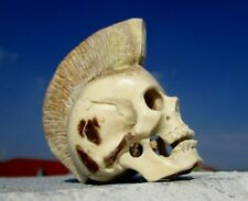 Schädel , Punk , skull aus Horn geschnitzt - Wunderkammer !
