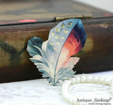 4pcs Vintage Feather Handmade Wood Wooden Charms / Pendants HW030D