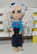 TIM THIS IS ME DOLL WHITE HAIR JEANS OUTFIT DOLL SOFT TOY PLUSH TOY 35CM TALL!