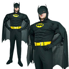 Muscle Batman Superhero Adults Stag Halloween Outfit Mens Fancy Dress Costume