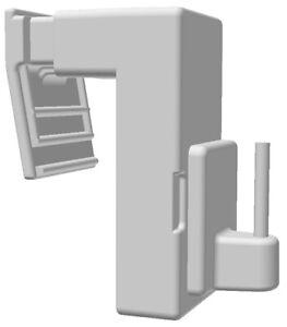 rewagi  Klemmträger für Vitragenstangen, Scheibengardinenstangen - 4 Set  HM