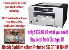 Sublimation Ink Ricoh Aficio SG 3110 DNW. PowerDriver W/ ICC Profiles