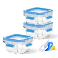 EMSA CLIP&CLOSE Glas Baby-Set Glasdose Breidose Dessertschale Auflaufform 3x0,2L