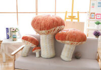 Mushroom Doll Pillow Stuffed Fungus Plush Toy Pillow Decor Cushion Birthday Gift