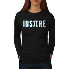 Wellcoda Nerd Side Pi Womens Long Sleeve T-shirt, Inspire Casual Design